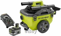 18 Volt ONE+ Lithium Ion Cordless 6 Gal. Wet/Dry Vacuum Kit With (1) 9.0 Ah New