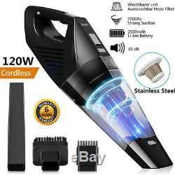 7Kpa 3 in1 Handheld Cordless Car Vacuum Cleaner Wet&Dry Rechargeable Hoover Home
