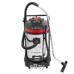 Industrial Vacuum Cleaner Wet & Dry Vac Commercial Stainless Steel 80L 3000W