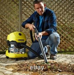 Karcher 1000W 20L WD4 Premium Wet and Dry Vacuum Cleaner locking system