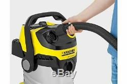 Karcher WD5 Premium High Volume Wet and Dry 1100W Vacuum Cleaner Yellow