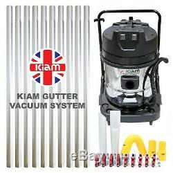 Kiam Gutter Cleaning System KV60 Industrial Wet & Dry Vacuum Cleaner & Pole Kit