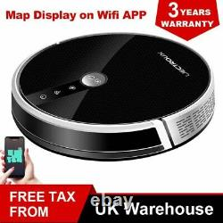 LIECTROUX C30B Robot Vacuum Cleaner 4000Pa Suction Map Display Wifi App Control