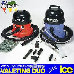 Numatic NRV200-22 Dry Vacuum CT370 Wet Extraction Car Valeting Equipment Package