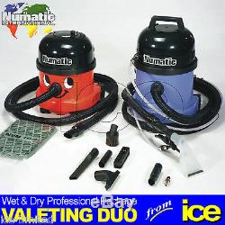 Numatic NRV 200-22 Dry Vacuum & CT 370-2 Wet Extraction Upholstery Valet Cleaner