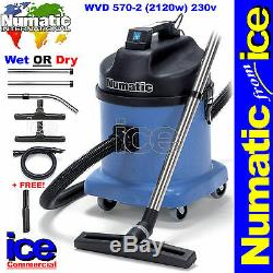 Numatic WVD570-2 Wet or Dry Commercial Car Wash Valeting Vacuum Machine Cleaner