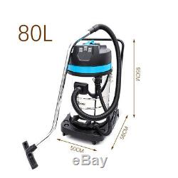 Powerful 80L Litre Wet & Dry Vacuum Cleaner with Blower 3000Watt Stainless Steel