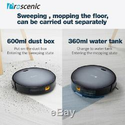 Proscenic Robotic Vacuum Cleaner Carpet Floor Dry Wet Mopping Auto Rechargable