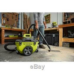 Ryobi Cordless Wet/Dry Vacuum 18-Volt ONE+ 6 Gal. Tool Only Hose Crevice Tool