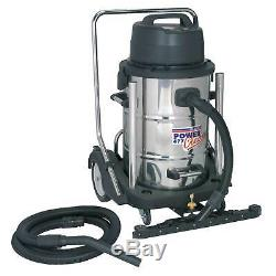 Sealey Industrial Wet & Dry 77 Litre 2400With230V Stainless Vacuum Cleaner PC477