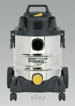 Sealey PC200SD110V Vacuum Cleaner Industrial Wet & Dry 20ltr 1250With110V Stainles