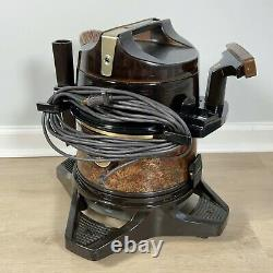 Vtg Rainbow D4C SE Canister Vacuum with Power Nozzle PN-2E Caddy Attachments Brush