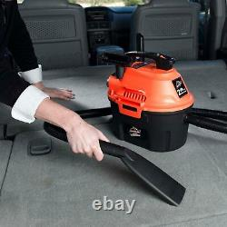 Wet and Dry Quiet Vacuum Cleaner 2.5 Gallon 2 Hp 6-foot Hose Compact ArmorAll US